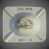 Vintage U.S.S Dixie  AD-14 Ashtray