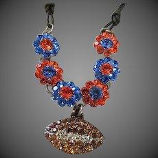 Ashton nichole swarovski crystal Gators Football necklace