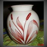 ON SALE Vintage Porcelain hand Painted Bavaria Schumann Handmalereis wheat Vase
