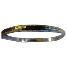 Vintage Sterling silver womens bangle bracelet