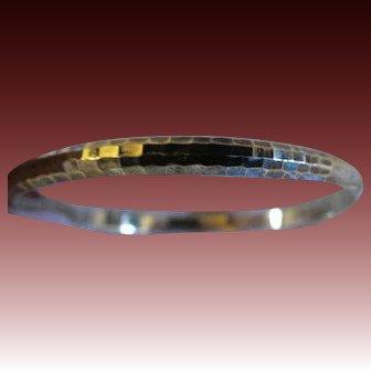 Vintage Sterling silver womens bangle bracelet