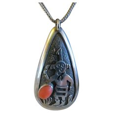 Vintage Native American Hopi Cuff Bracelet Sterling Silver