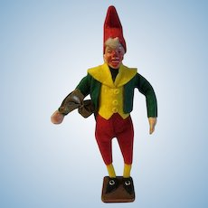 Vintage Christmas Paper Mache Elf Doll