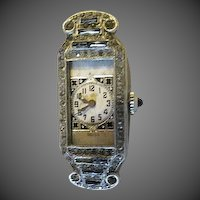 A ladies vintage art deco wrist watch by Abra Swiss