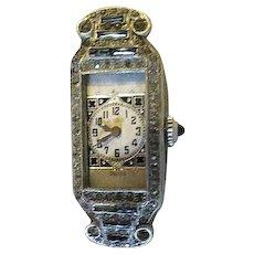 A ladies vintage art deco wrist watch by Abra Swiss
