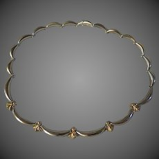 Womens .925 sterling silver fleur de lis Necklace stamped .925 w/ Heart hallmark