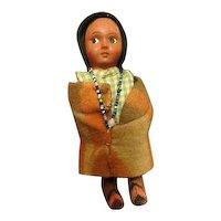 Vintage 1940s Snookum American Indian Doll