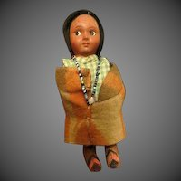 Vintage 1940s Snookum American Indian Doll