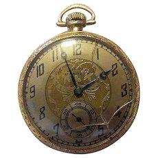 Vintage 1922 Dueber Hampden No 307 14K Gold Filled 12S 17J 17 Jewels Pocket Watch