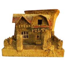 Vintage Christmas Paper mache x-mas House