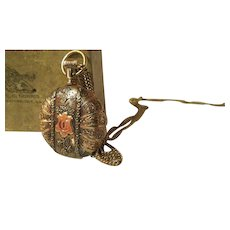 Antique Elgin Warranted GF ornate case womens pocket watch 1909