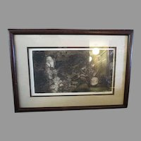 Original Vintage Engraving signed 1980 AP Artist Proof