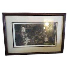 Original Vintage Engraving signed 1980 AP Artist Proof