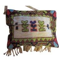 Antique Native America Bead work hand beaded purse