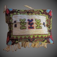 Antique Native America Bead work hand beaded purse