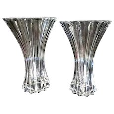 Vintage Pair of Riedel Crystal Vases excellent condition Signed