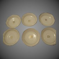 Antique Tea Leaf Ironstone China set of 6 saucers tealeaf white & Gold