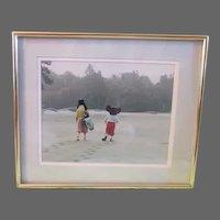 Vintage Art original art photograph Mickey and Pluto