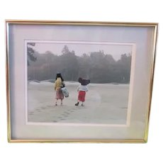 Vintage Art original art photograph Mickey and Pluto