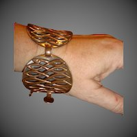 Vintage large Copper womens bracelet
