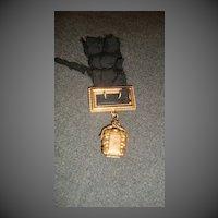 Antique Watch fob locket & buckle fancy Victorian Jewelry
