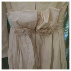 """REDUCED Vintage BRIDE  Ivory 1930s Womens Wedding Dress Gorgeous sz small 24"""" waist - Red Tag Sale Item"""