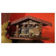 Antique Xmas old Folk German  Tramp Art Berg Weih Nacht Chalet
