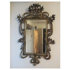 Reduced ... Antique Vienna Secession Gold Gild Art Nouveau Mirror