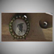 Vintage Miniature Micro Mosaic Round Frame with Photo