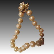 Vintage Designer Donald Stannard Faux Pearl Runway Necklace