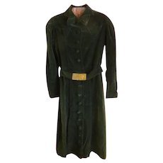 Vintage Western forest green velvet Dress