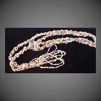 Art Deco Vintage Flapper Multi color Bead Necklace