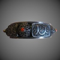 Antique Chinese Export Silver gilt Filigree BRACELET- Gorgeous!
