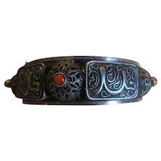 Antique Chinese Export Silver gilt Filigree BRACELET- Gorgeous!