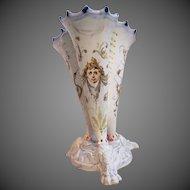 Antique 18th c Faience Vase signed