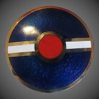 Vintage Guilloche Enamel Canadian Brooch Passille Sylvestre