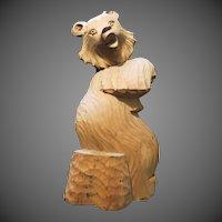 Vintage German Black forest Bear hand carved Pipe holder