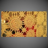 Vintage Hand crochet bed spread 80x123 inches