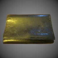 Vintage Marino Orlandi Womens Black leather wallet