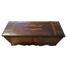 Vintage wood inlay arts n crafts wooden box