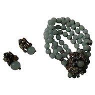 Vintage DeMario NY ornate Beauty Bracelet and earring set