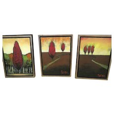 Ren Will three pc Painting By Patrick St Germain original oil on canvas