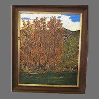 Vintage German Expressionist OIL Painting