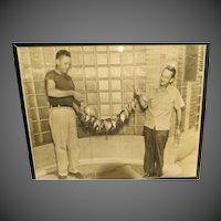 Vintage Newspaper Editors Original Photograph pick Men w/fish