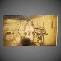 Antique Original Cowboy Shoe Shop Photograph late 1800s