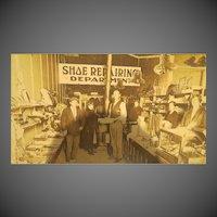 Antique Original Cowboy Drug store Shop Photograph late 1800s