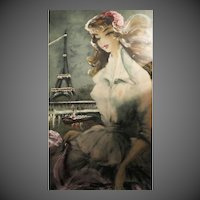 "Beautiful hand painted ""eau forte originale"" Engraving painting"