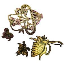Antique Silk Ribbon Japanese Applique work Japan Textile