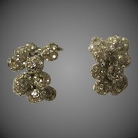 Vintage 1950s Cluster ball Earrings