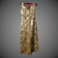 Vintage KENT ORIGINALS 1960's era Gown floral brocade dress